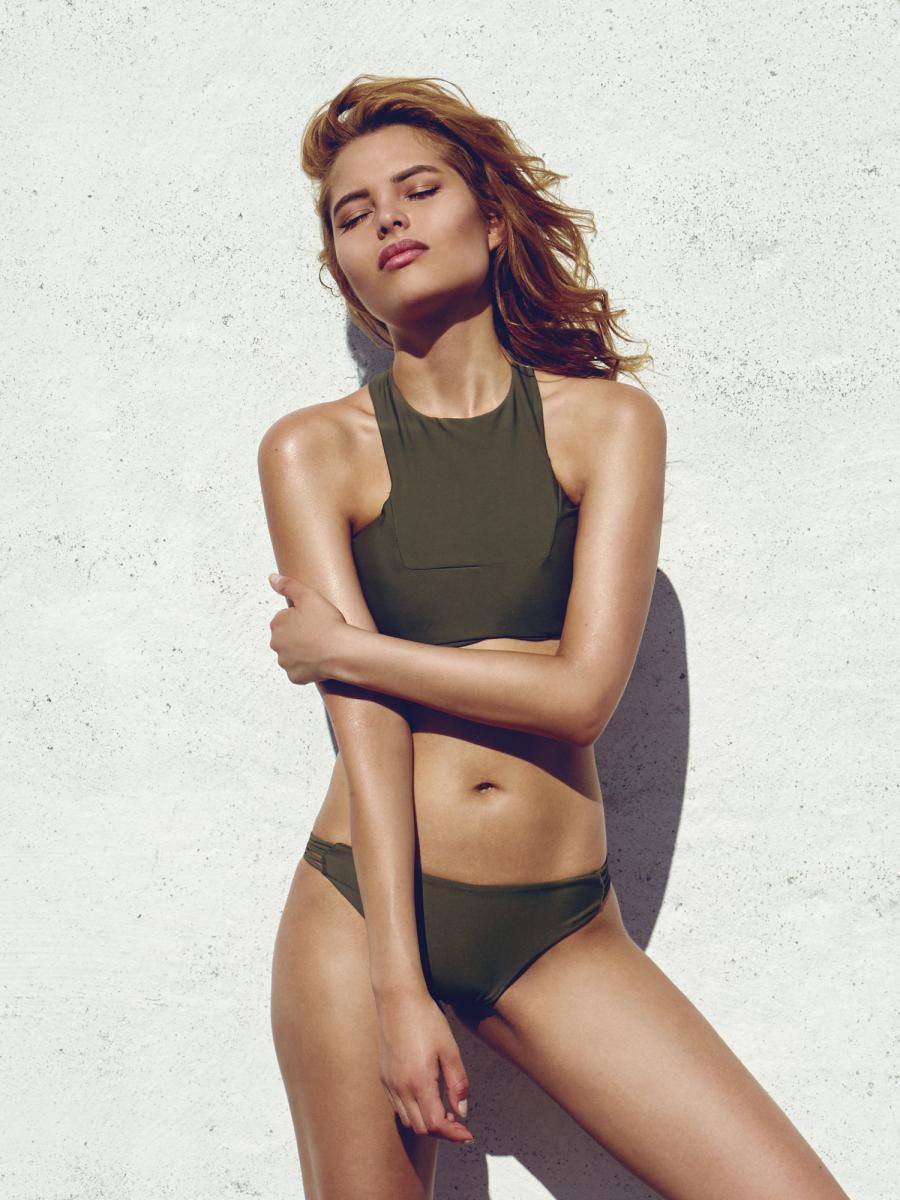 Diamond Bikini Bottom Khaki