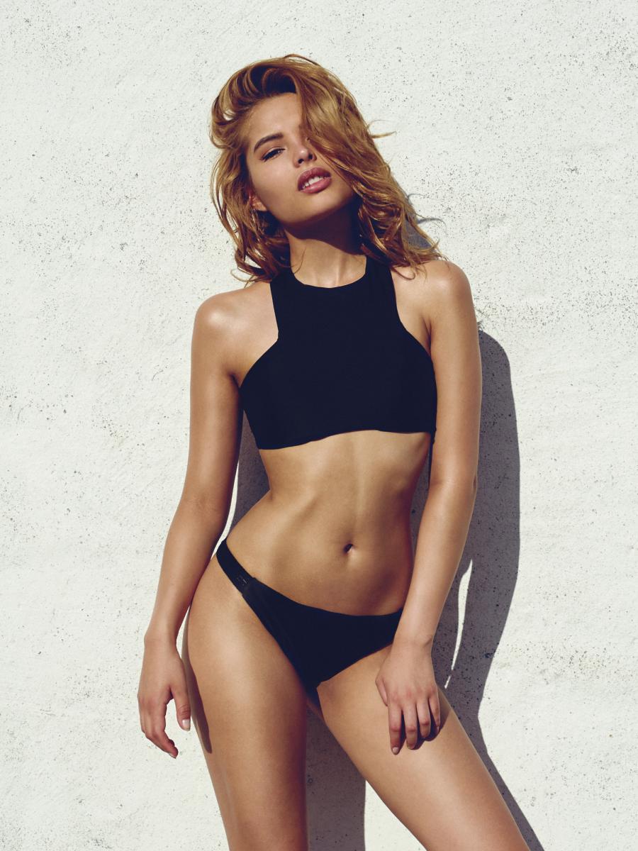 Diamond Bikini Top Black